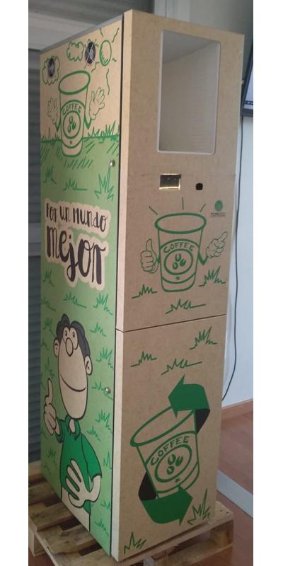 Máquinas vending de residuos y envases